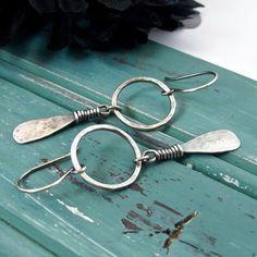 Sterling Silver Handmade Jewelry Hoop Earrings by ArtNSoulJewels #SterlingSilverJewellery #SterlingSilverBeautiful #SterlingSilverFashion