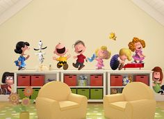 Peanuts Gang Wall Decals