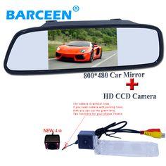 "2 in1 Parking Camera + 5"" car monitor mirror + CCD HD car rear view parking camera For Kia Sportage R/K3   2011-2012"