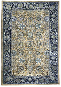 A Persian Sultanabad carpet BB3303 - by Doris Leslie Blau.  An early 20th century Sultanabad carpet from West Persia, the camel field with an enlarged palmette, scrolling vine ...