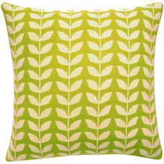 Dot & Bo Blooming Pillow Cover ($36) ❤ liked on Polyvore featuring home, home decor, throw pillows, green toss pillows, green accent pillows, inspirational throw pillows, cream throw pillows and flower home decor