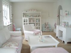 White is bright and clean.  The perfect foundation for Shabby Chic colours.