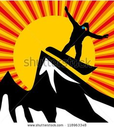 stock vector :  snowboard line