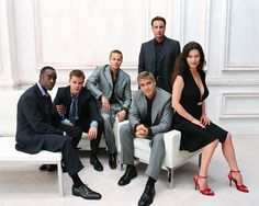 Don Cheadle Matt Damon Brad Pitt George Clooney Andy Garcia and Catherine Zeta Jones Business Portrait, Corporate Portrait, Corporate Headshots, Team Photography, Corporate Photography, Wedding Photography Poses, Portrait Photography, Large Group Photography, Underwater Photography