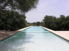 Pool of the Neuendorf House in Spain by John Pawson & Claudio Silvestrin.