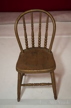 Children's Gold Chair