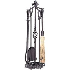 minuteman international contemporary 4 pc black fireplace tool