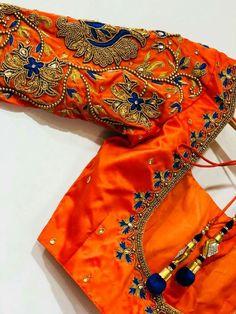 Beautiful orange blue comb