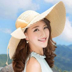 >> Click to Buy << 2016 New Ladies Bowknot Wide Brim Beach Sun Hat Vacation Straw Cap  Y96 #Affiliate