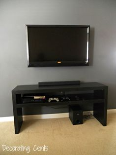 Fiscally Chic: Hiding TV Cords and Cables // off center your ...