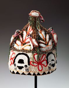 "Africa | Chief's Coronet (""Orikogbofo"") from the Yoruba people of Nigeria 