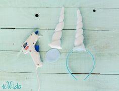 Easy Felt Unicorn Horn Headband Tutorial   TikkiDo.com