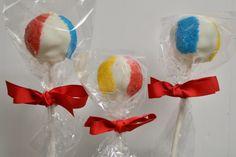 beach ball cake pops - Google Search