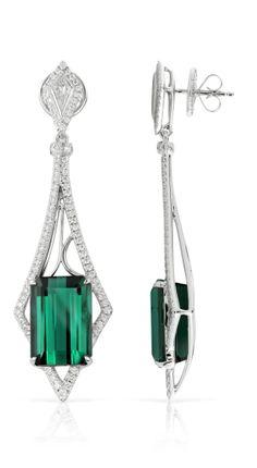 Kat Florence - Tourmaline earrings Ear Jewelry, High Jewelry, Luxury Jewelry, Jewelery, Tourmaline Earrings, Emerald Earrings, Jewelry Design Drawing, Titanic Jewelry, Walmart Jewelry