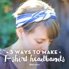 Loving a pattern on an old t-shit? Try this DIY tutorial on how to transform it into a headband.