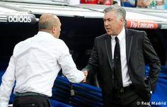 Pepe Mel y Anceloti Carlo Ancelotti