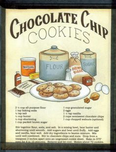 Chocolate Chip Cookie Recipe Sign