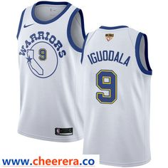 Nike Warriors  9 Andre Iguodala White Throwback The Finals Patch NBA  Swingman Hardwood Classics Jersey 49719db91