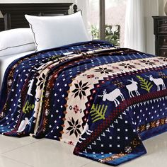 You'll love the Christmas Snowflake Deer Fleece Throw Blanket at Wayfair - Great Deals on all Bed & Bath  products with Free Shipping on most stuff, even the big stuff.