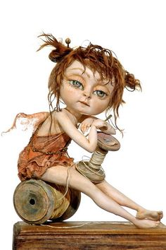 cute - sewing and fairy✋🏾🖐🏽ART DOLLS 👆🏾👉🏿More Pins Like This At FOSTERGINGER @ Pinterest👌🏾☝🏾👌🏾👌🏻✋🏾