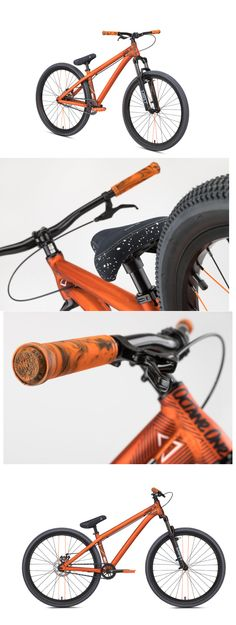 The Melt dirt bike is lightweight and strong with geometry derived from the NS frames used by the FMB World Tour riders. Orange Grey, Orange Color, Bmx, Fork, Geometry, Frames, Salt, Stains, Folk