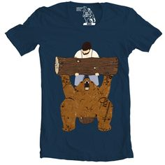 Take a look into this bear spotting! Man and bear at the gym, NBD. You would think that bears are just born with all that muscle mass, right? Wrong! Bears (like humans) need to hit the gym, well forre