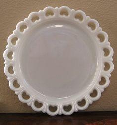 milk glass dinnerware   milk glass platter from 22 Bay Road
