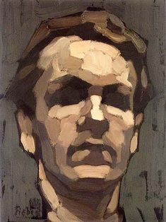 This is how to think about the face when you're painting it. Frederic Fiebig - Facial planes example #OilPaintingTechniques #OilPaintingPortrait