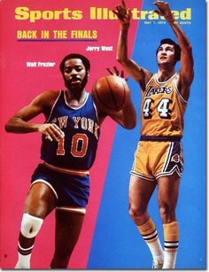 Jerry West, Basketball, Los Angeles Lakers, Walt Frazier, New York Knicks | SI.com Sports Illustrated cover #NBA #Finals #Championship