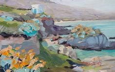 """"""" The Quiet Cove""""  - oil painting ©Steven A.Pleydell-Pearce Fine Art.  One of the prettiest spots on the coast!  9x 6 inches Sold. http://www.stevepp.co.uk/index.php?showimage=75"""
