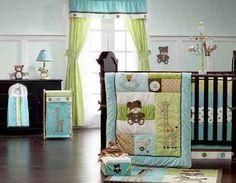 turquoise nursery, baby nurseries, aqua nursery, baby room, crib bedding set