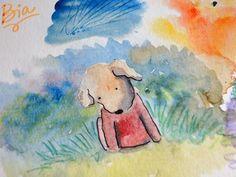 Adoro manchas em aquarelaI love watercolor stains