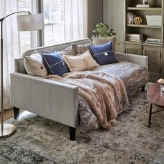 Shop for Handy Living Fawn Grey Velvet Upholstered Twin-size Rounded Back Daybed. Get free delivery On EVERYTHING* Overstock - Your Online Furniture Outlet Store! Get in rewards with Club O! Bedroom Furniture Stores, Entryway Furniture, Furniture Deals, Luxury Furniture, Furniture Outlet, Online Furniture, Rustic Furniture, Daybed Couch, Upholstered Daybed