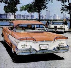 1958 Edsel.  A question coming or going.  But under-rated, nonetheless.  One man's mistake is another man's classic.