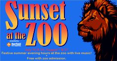 Enter to win four tickets to Sunset at the Zoo on August 21st! Music, arts & crafts, tattoos, hula hooping and more! Giveaway ends Monday 8/19/13 at 11:59pm