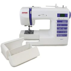"Janome DC2014 Computerized Sewing Machine with 50 Built-In Stitches w/ Hard Case + Walking Foot + 1/4"" Foot and More! Replaces the Janome DC2013"