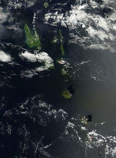 The MODIS instrument that flies aboard NASA's Terra satellite captured this visible image of Vanuatu on March 16.