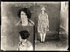 Convicted of stealing. Eileen O'Connor first appears in police records as a 'missing friend', or missing person. She is eventually arrested for stealing a wallet and is described by police with the odd epithet 'inclined to be weak'. Aged 17. Part of an archive of forensic photography created by the NSW Police between 1912 and 1964.