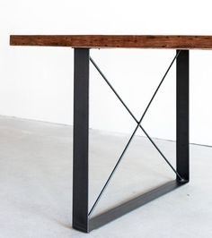 Railcar Dining Table Handmade Reclaimed Wood by CroftHouseLA