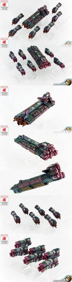 Firestorm Armada Tarakian Battleship and Cruiser: