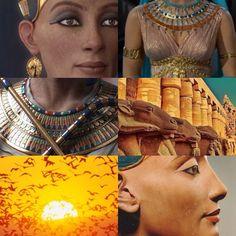 Nefertiti - Great Royal Wife of Pharaoh Akhenaten and Queen Consort of Egypt