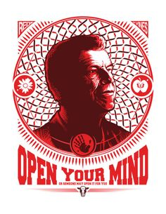 Fringe T-shirt Walter Bishop Open Your Mind by VincentCarrozza