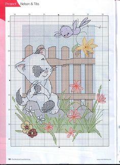 Nelson & Tibs (Cross Stitch World: animal)
