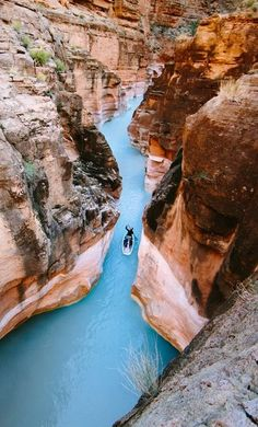 Havasu Creek - the water is a bright blue due to the amount of calcium carbonate in the water