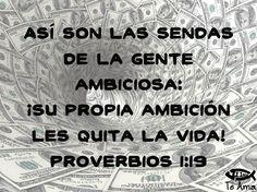 Proverbios 1:19 facebook.com/jesusteamamgaministries