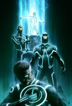 Marvel/ Tron Mash up