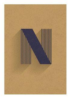alphabet mix - each letter as a postcard By wir sind schooner. on Behance Typography Letters, Typography Logo, Graphic Design Typography, Lettering Design, Hand Lettering, N Logo Design, Font Alphabet, Design Graphique, Art Graphique