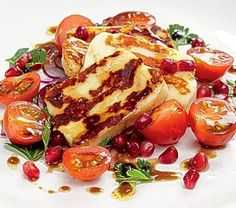 Halloumi and pomegranate salad -Eat like a girl