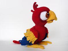 Buy Chili the parrot amigurumi pattern - AmigurumiPatterns.net