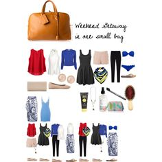 Weekend Getaway in one bag by lauren-elizabeth-atterbery on Polyvore featuring polyvore, fashion, style, Ally Fashion, Alberta Ferretti, L.K.Bennett, Armani Collezioni, Marysia Swim, Calvin Klein Underwear, Accessorize, Lipsy, Chloé, Tkees, Hermès, Jimmy Choo, Saachi, Abercrombie & Fitch, Sun Bum, AERIN and Marvis
